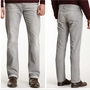 7 fam gray slimmy straight leg jeans 38 38x29